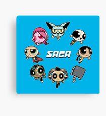 Saga Puffs Parody Canvas Print