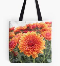 Fiery Flower Tote Bag