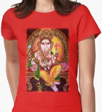 Lord Ganesha Womens Fitted T-Shirt