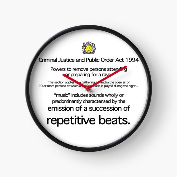Acid House: Emission of a Succession of Repetitive Beats Clock
