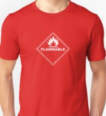 Red Barrels Explode - Flammable Unisex T-Shirt