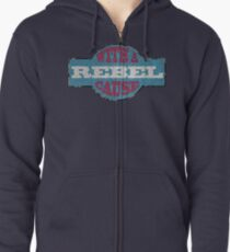 Rebel with a cause Zipped Hoodie