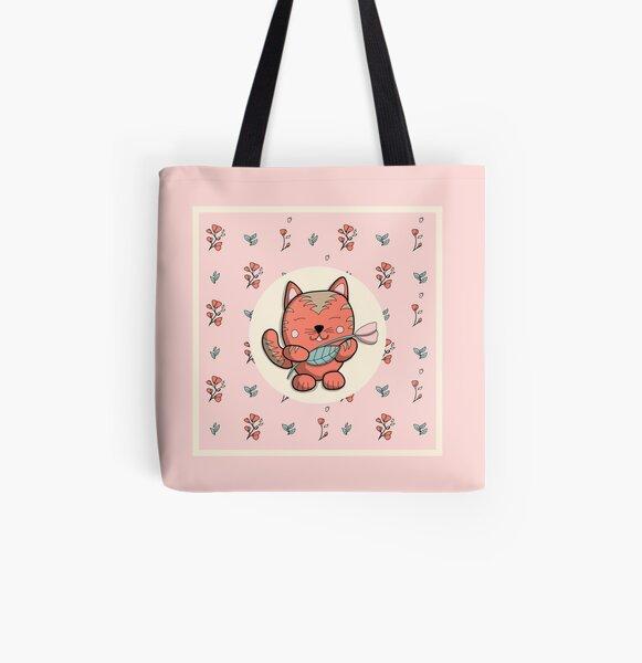 Le chat du printemps  Tote bag doublé