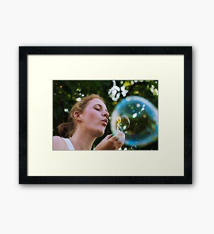 Bubble in a bubble Framed Print