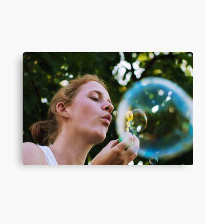 Bubble in a bubble Canvas Print