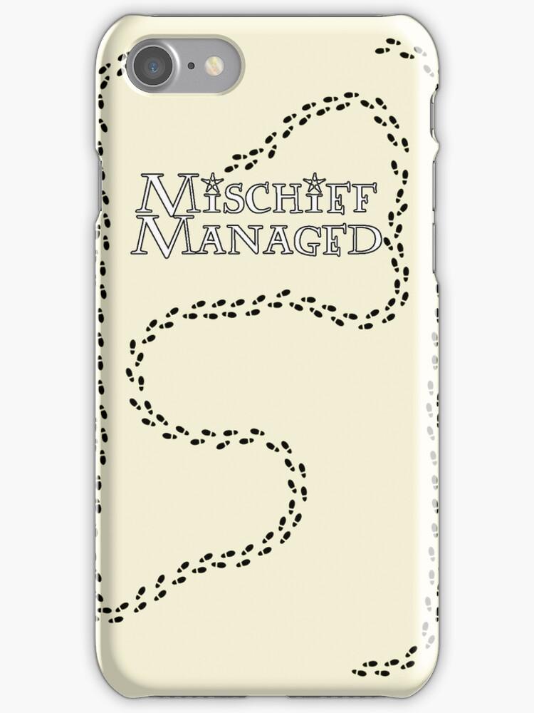 Mischief Managed iPhone Case by carls121