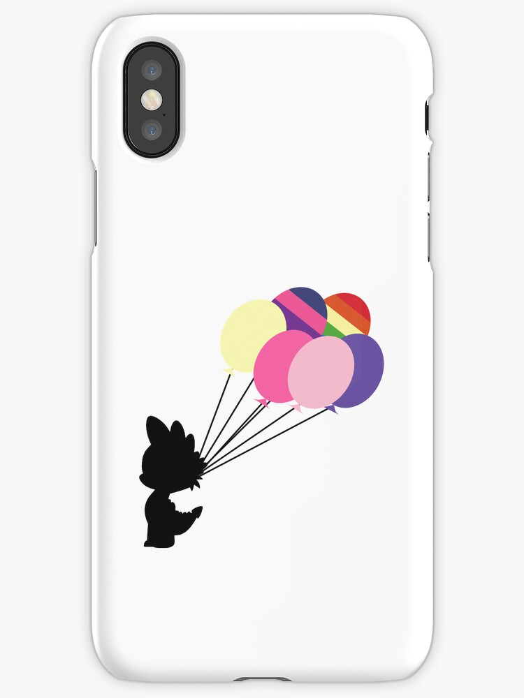 Black Spike Silhouette with Balloons by phyrjc2