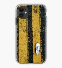 Little lost shoe on double yellow lines iPhone case iPhone Case
