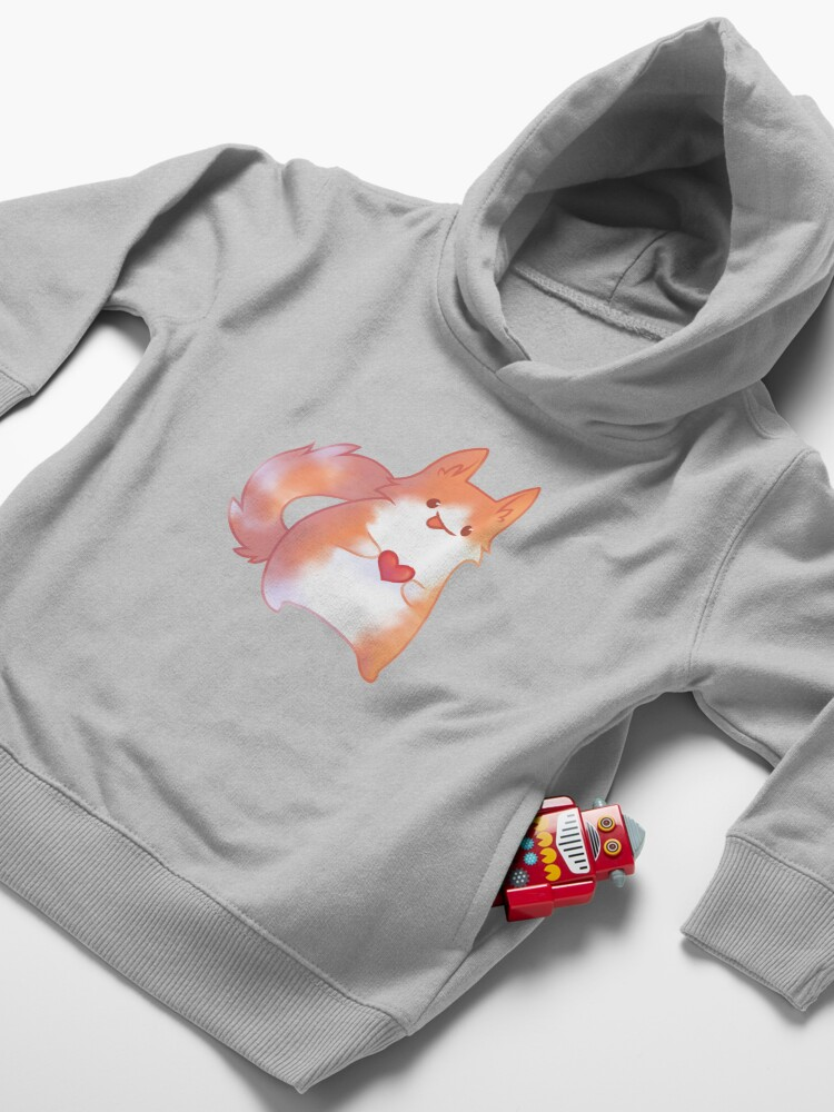 Alternate view of Ginger Cat Toddler Pullover Hoodie