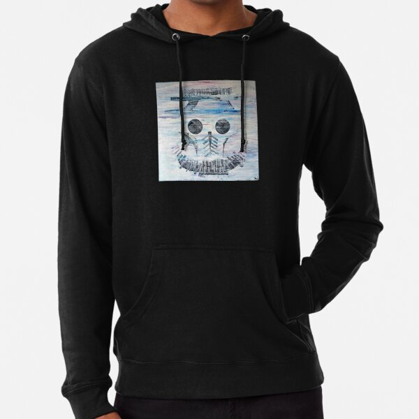 Abstract Skull Smile Sweat à capuche léger