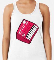 Camiseta con espalda nadadora El sintetizador rojo