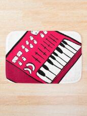 Alfombra de baño El sintetizador rojo