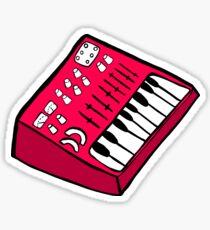 Pegatina El sintetizador rojo