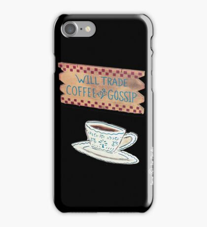 Coffee for Gossip iPhone Case/Skin