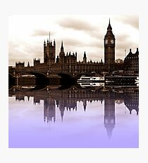 Westminster reflections Photographic Print