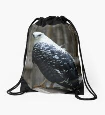Gray Backed Hawk Drawstring Bag