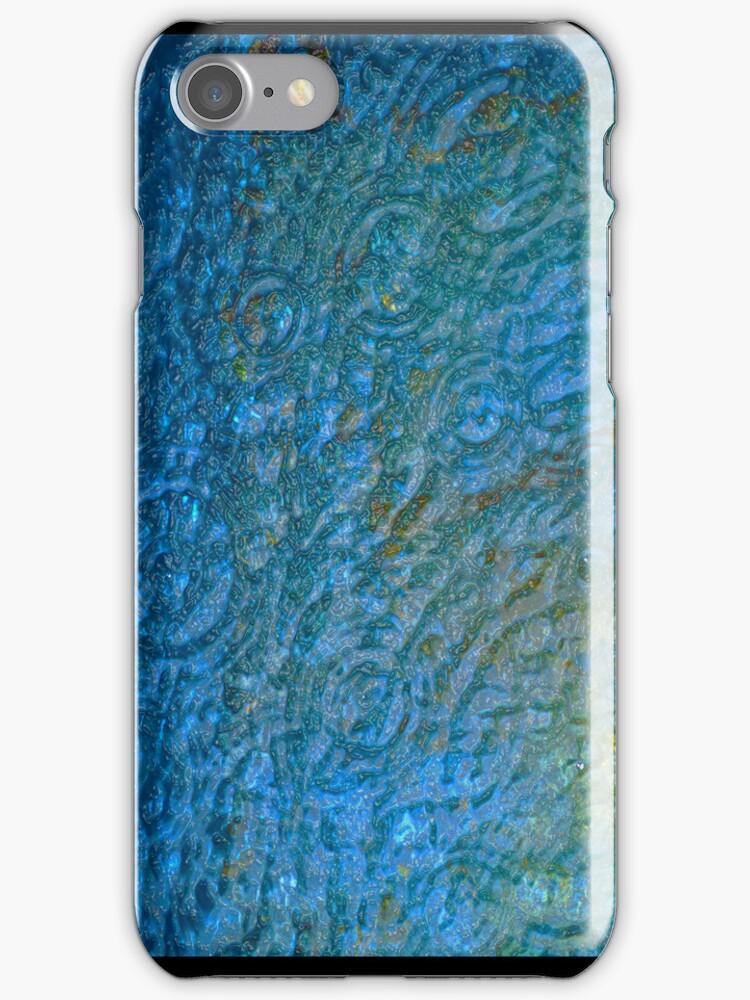 Blue Raindrops - iPhone case by Odille Esmonde-Morgan