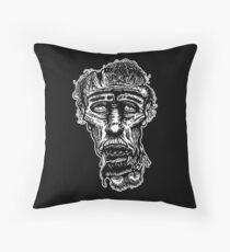 Slack-Jaw Zombie Throw Pillow