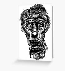 Slack-Jaw Zombie Greeting Card