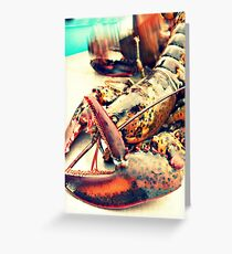 Homard Greeting Card