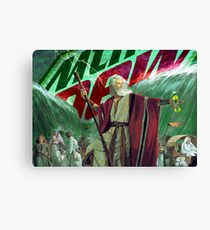 Moses Parting the Mountain Dew Canvas Print