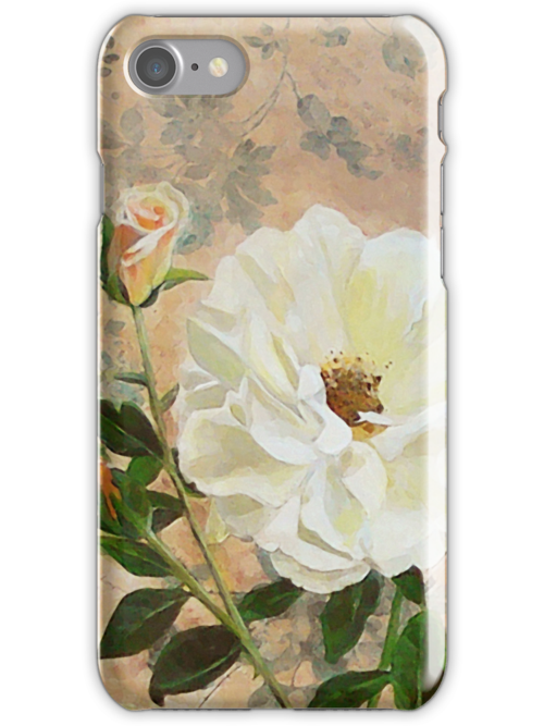 Old Fashioned Rose iPhone Case by Carrie Jackson