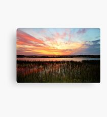Sunset And Reflections Canvas Print