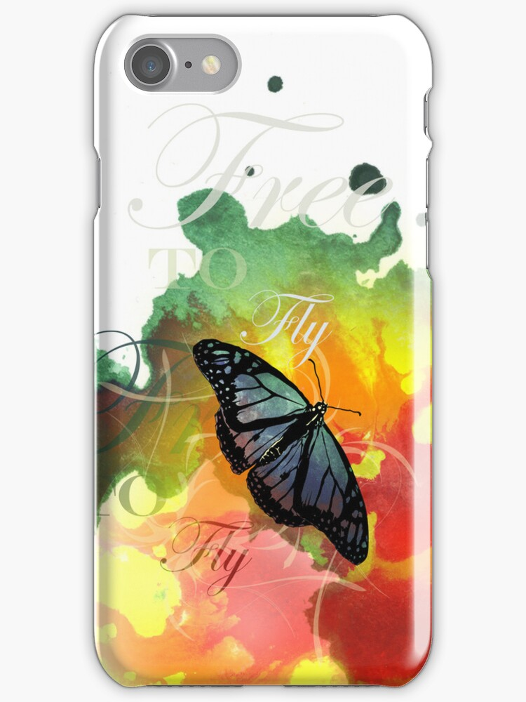 Free To Fly iPhone Case by Carrie Jackson
