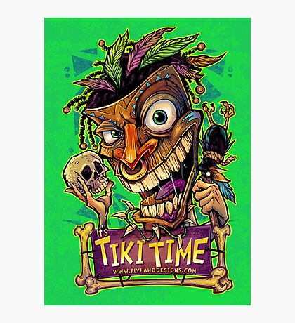 Tiki Time Photographic Print
