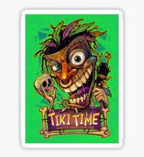 Tiki Time Sticker
