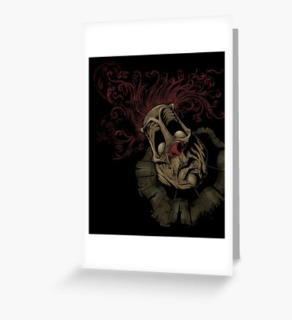 Dark Clown Greeting Card