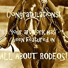 All About Rodeos Featured Art Banner by Sue Ratcliffe
