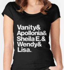 Prince Protégés Apollonia & Carmen Electra Helvetica Threads Women's Fitted Scoop T-Shirt