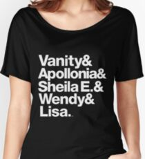 Prince Protégés Apollonia & Carmen Electra Helvetica Threads Women's Relaxed Fit T-Shirt