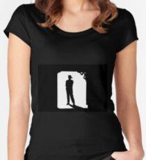 Camiseta entallada de cuello redondo Los buscadores
