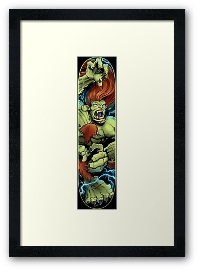 Blanka Street Fighter Skate Deck by Brian Allen