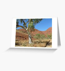 Walking the Olgas Greeting Card