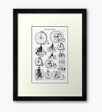 Bicycle Vintage High Wheeler Victorian Penny Farthing Cycle Biking		 Framed Print
