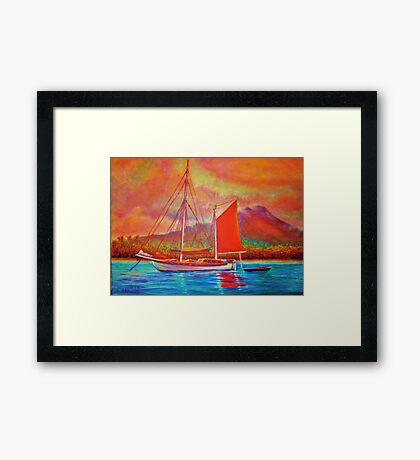 Mango Sail Framed Print
