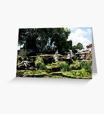 york house garden statues Greeting Card