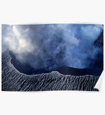 Smoking crater of Mount Benbow Poster