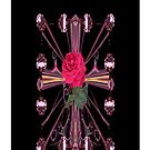 Cathederal Cross Rose (iPhone Case) by judygal