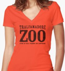 Tralfamadore Zoo Women's Fitted V-Neck T-Shirt