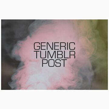 Generic Tumblr Post by halfurness