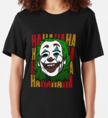 the joker joaquin phoenix original cartoon portrait  Slim Fit T-Shirt