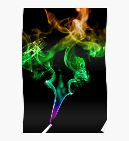 Colourful Smoke Trails Poster