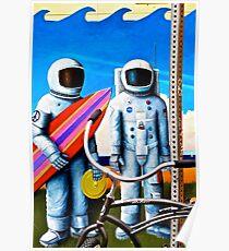 Land, Sea & Sky Poster