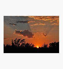 Oklahoma Sunset Photographic Print