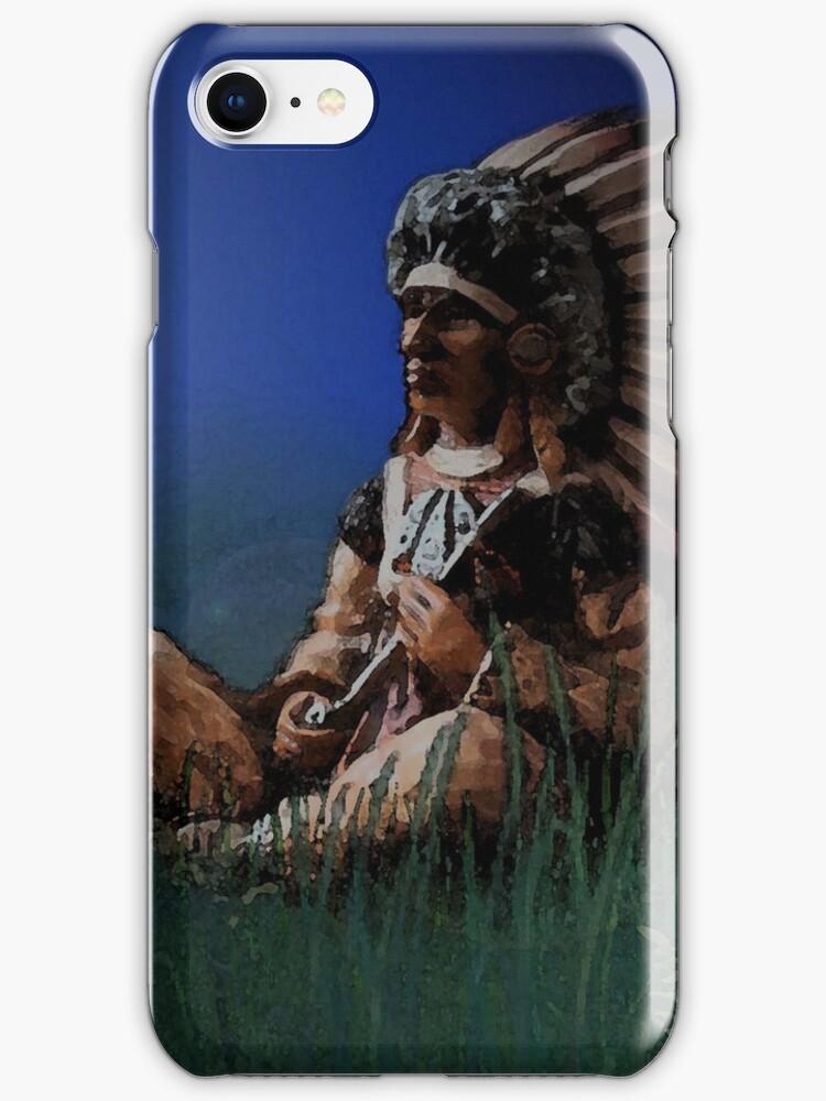Sitting chief i phone case by Dawnsky2