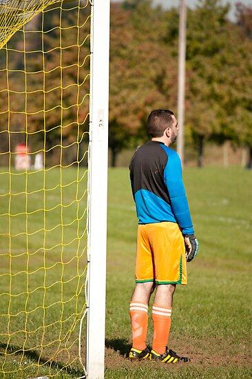 Goalie Guarding His Goal by Robert Noll